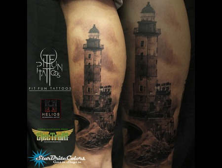 Lighthouse  Black Grey Lower Leg