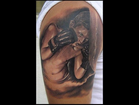Sport Tattoo Boxing Tattoo Realistic Tattoo Portrait Tattoo Black White