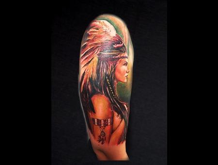 Big Color Tattoo Color Arm