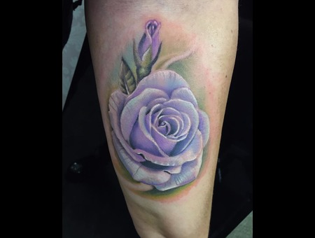 Rose  Color  Realistic Color Forearm