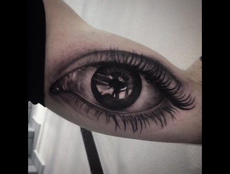 Eye  Realistic Black Grey Arm