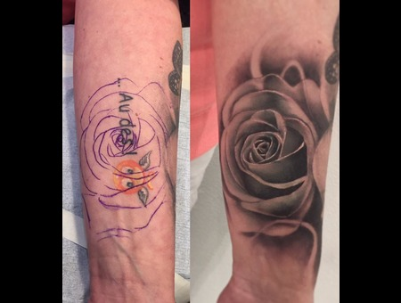 Coverup  Rose Opaque Black Grey Arm