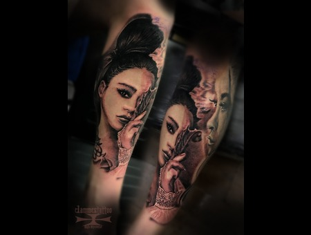 Geisha Black Grey Arm