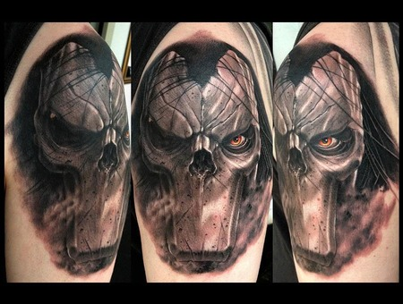 Skull Tattoo Fantasy Tattoo Game Tattoo The Darksiders Tattoo