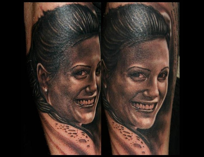 Portrait Tattoo Realistic Tattoo   Black White