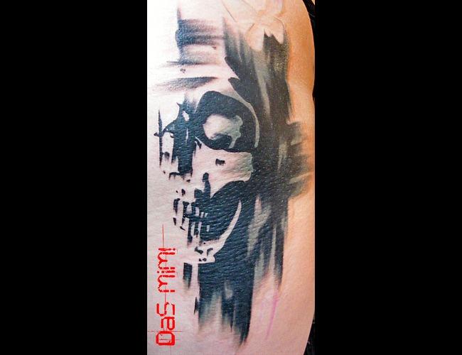 Das Mim  Graphic  Tattoos  Mim Black Grey