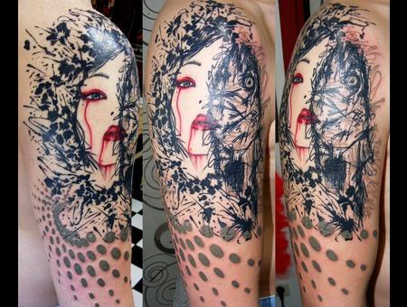 Das Mim  Graphic  Tattoos  Mim Black White