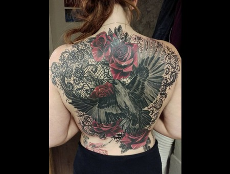 Raven And Roses  Color Back