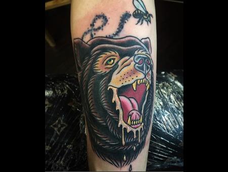 Bear  Traditional  Traditional Tattoo  Animal  Animal Tattoo  Animal Head Color Forearm