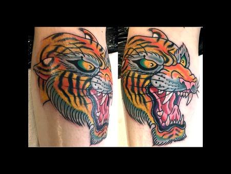 Tiger  Animal Head  Traditional Color Lower Leg
