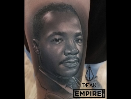 Mlk  Black And Grey  Portrait  Realism  Civil Rights   Black History  Black Grey Forearm