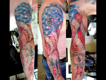 American Flag Color Arm