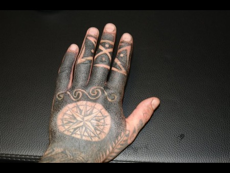 My Own Hand Dot Work Black Grey