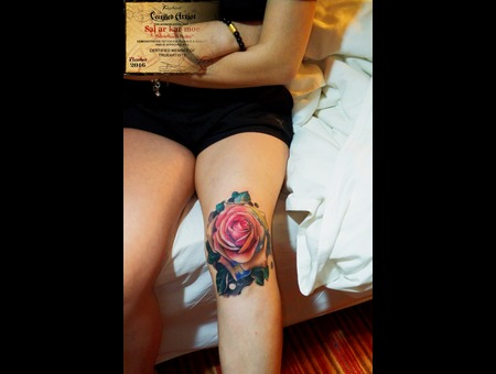 Realistic  Colours  Morden Art  Flowers  Rose  Watercolour Color Lower Leg