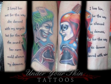 Joker Harley Quinn Color Arm