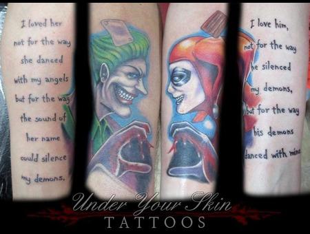 Joker Harley Quinn Color Arm