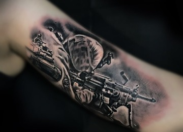 soldier,army,warior,tattoo