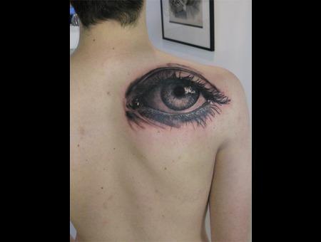 Realistic  Eye   Black White