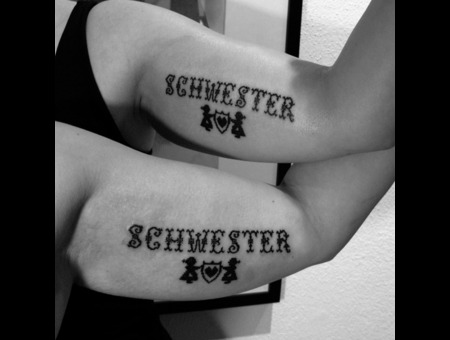 Sister Tattoo  Lettering   Black White