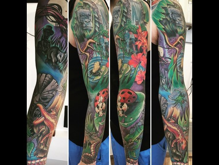 Freehand Dschungel Sleeve Color Arm