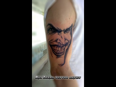 Joker Black Grey Arm