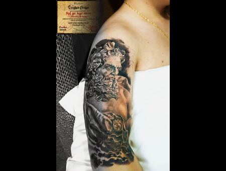 In Progress  Morden Art  Realistic  Zeus  Black Grey Arm