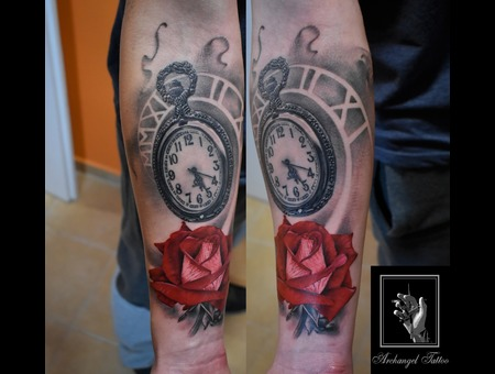 Watch  Rose Color Forearm