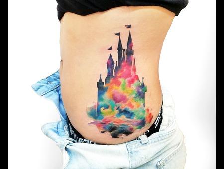 Watercolor Ribs Disney Colortattoos Mobi Brighttattoo Besttattooartist Color Ribs