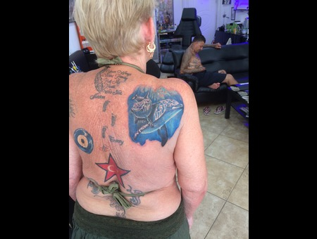 Dolphine  Coverup Artinctattoo Marmaris Color Shoulder