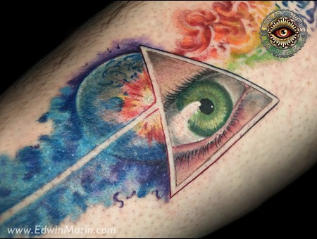 Pink Floyd  Dark Side Of The Mood  Eye  Evil Eye  Third Eye  Illuminati   Color Lower Leg