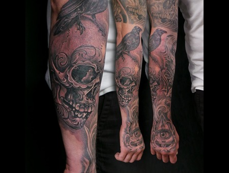 Black Grey Lower Leg