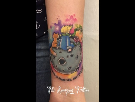 Little Prince  Watercolour  Color Forearm
