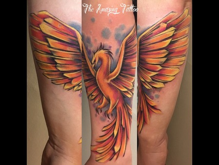Phoenix  Watercolour  Color Forearm