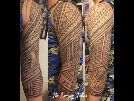 Maori  Blacktattoo Black Grey Arm