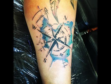 Compass Watercolour Color Lower Leg