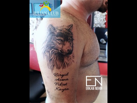 Wolf  Tattoo  Tattoos  Kurt  Wolves  Erkan  Nehir  Marmaris  Dövmeci Black Grey Shoulder