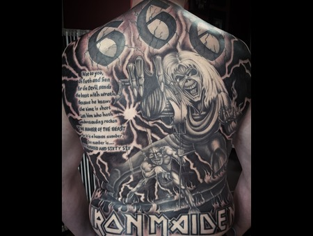 Ironmaiden Black Grey Back