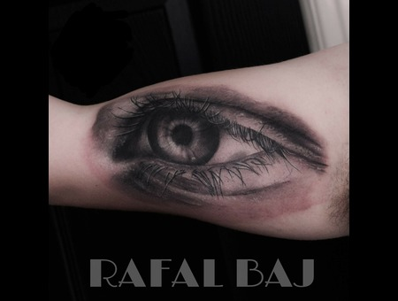 Realism  Eye  Black And Gray   Black Grey Arm