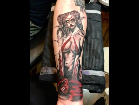 Succubus  Realism  Fantasy  Woman  Dark Art   Color Arm