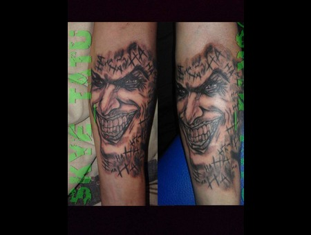 Joker Black Grey Forearm