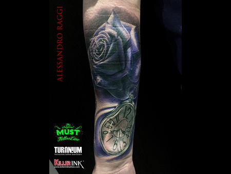 Roses  Realistic Color Forearm