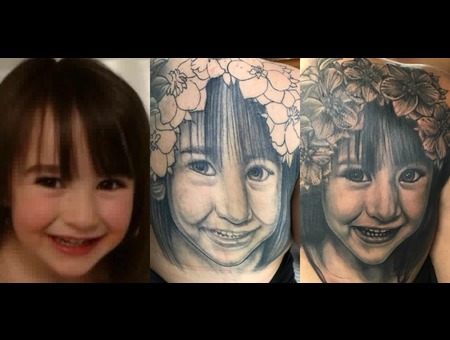 Coverup  Portrait Black Grey Shoulder