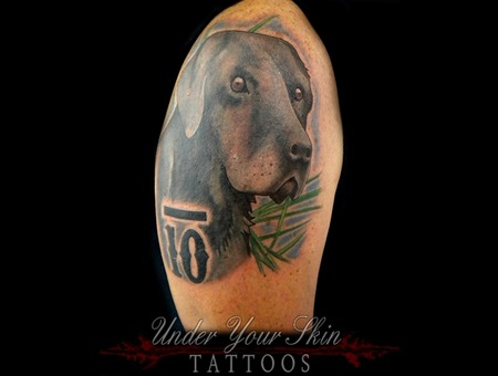 Dog Portrait Realism Color Arm
