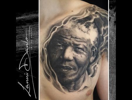 Portrait  Realistic  Realism  Face  Mandela  Photo  Chest  Black Grey