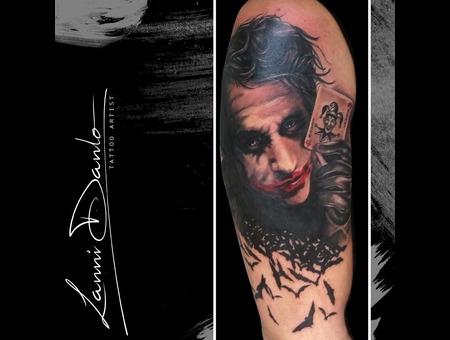 Joker  Film  Batman  Bat  Face  Portrait  Cards Black Grey Arm