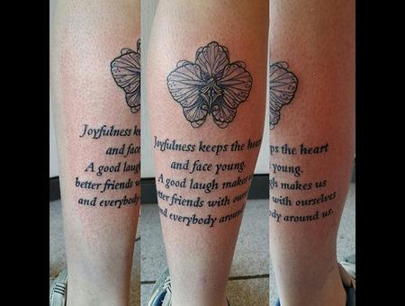 Lettering  Tribute  Family  Flower Color Lower Leg