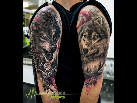 Wolf  Wolfes  Good  Evil  Trash  Trash Polka  Realistic Black Grey Arm