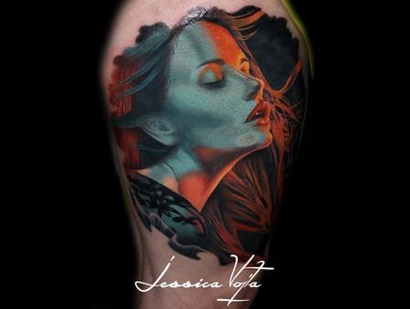 Portrait  Lace  Woman  Gellightning Color Thigh