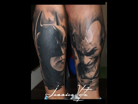 Batman  Joker  Dark  Smiling Black Grey Lower Leg