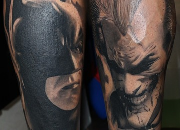 batman, joker, dark, smiling